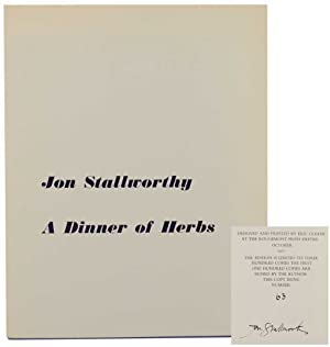 A Dinner of Herbs (Signed Limited Edition): STALLWORTHY, Jon