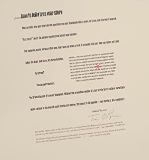 from How to Tell A True War Story (Signed Broadside)