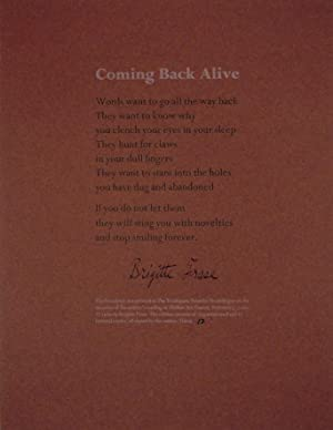 Coming Back Alive (Signed Broadside)