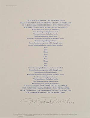 Of Indigo and Saffron (Signed Broadside)