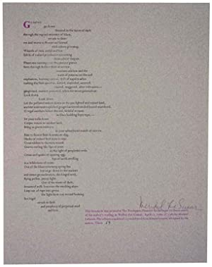 Go Down (Signed Broadside)