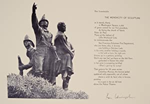 The Mendacity of Sculpture (Signed Broadside)