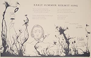 Early Summer Hermit Song (Signed Broadside)