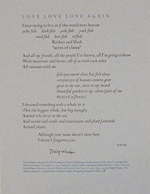 Love Love Love Again (Signed Broadside)