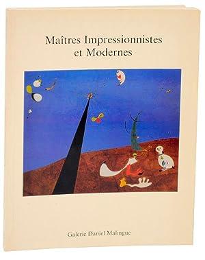 Maitres Impressionnistes et Modernes