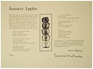 January Apples (Signed Broadside)