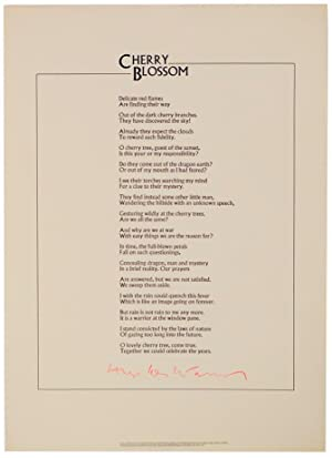 Cherry Blossom (Signed Broadside)