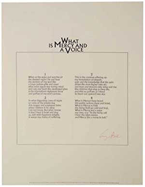 What is Mercy and a Voice (Signed Broadside)