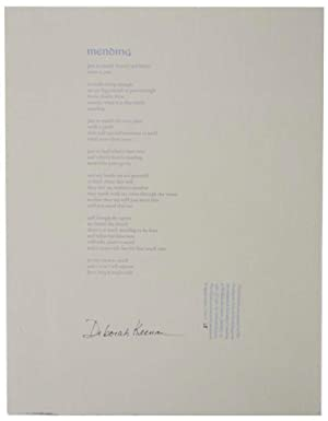 Mending (Signed Broadside)