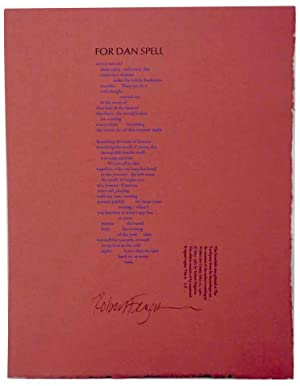 For Dan Spell (Signed Broadside)