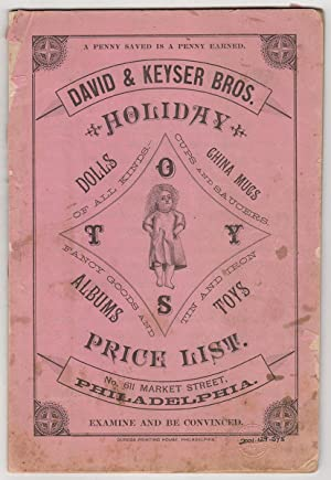 David & Keyser Bros. Holiday Price List: Dolls of all Kinds; China Mugs, Cups and Saucers; Fancy ...