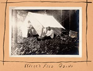 [Fishing Trip on Moose River, Maine, 1906]. Photos: D. and F. Moose River Aug. --'06