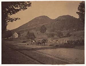 Two-horse buggy ride in Dixfield, Maine, Sugar Loaf Mountain, 1871