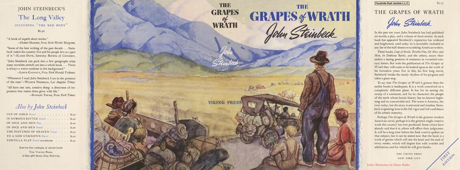 the life of john steinbeck that influence his work the grapes of wrath John steinbeck is awarded the pulitzer prize for to california in search of a better life grapes of wrath, much of steinbeck's work dealt with his.