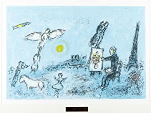 The Painter and his Double (original lithograph): Chagall, Marc