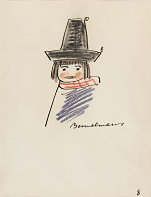 """ORIGINAL DRAWING of """"Pepito the Bad Hat"""": Bemelmans, Ludwig"""