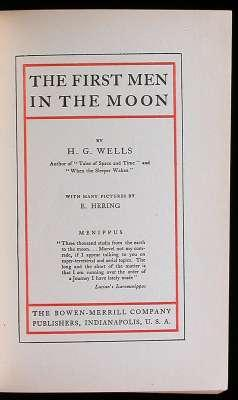 The First Men in the Moon: Wells, H.G.