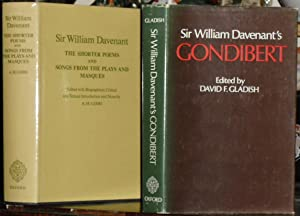 Poems & Songs of Sir William Davenant [or D'Avenant]. In Two volumes: Volume I, The Shorter Poems...