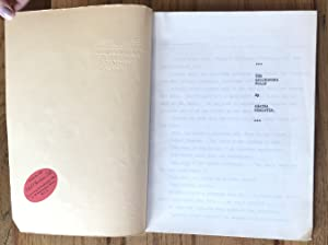 THE GREENSHORE FOLLY - UNPUBLISHED HAND TYPED MANUSCRIPT: CHRISTIE AGATHA