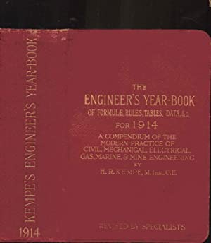 KEMPE'S ENGINEER'S YEAR-BOOK of Formulae, Rules, Tables,: H. R. Kempe;