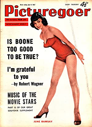 Picturegoer. The National Film and Entertainment Weekly. Week Ending April 6, 1957. FRONT COVER: ...