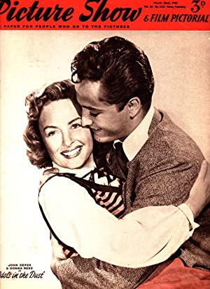 Picture Show and Film Pictorial. March 22nd, 1952. No. 1512. Front Cover : John Derek and Donna ...