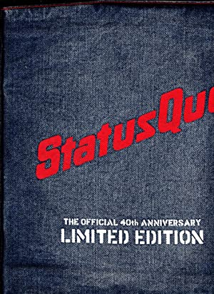 Status Quo. The Official 40th Anniversary. Limited Edition in Denim Jacket. ------ Signed by ...
