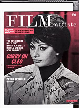 FILM ARTISTE Magazine. VOL 1. NO. 4. 1964. FRONT COVER: SOPHIA LOREN