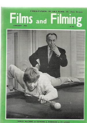 FILMS AND FILMING Magazine. February 1962. FRONT COVER SHOWS Shirley MacLaine & Edward G. ...