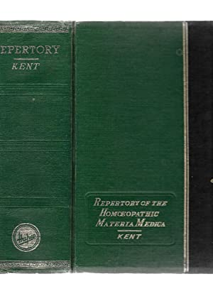 Repertory of the Homoeopathic Materia Medica: J. T. Kent