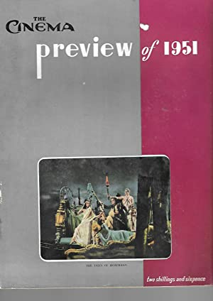 """THE CINEMA PREVIEW OF 1951. JANUARY 8th, 1951. Front Cover Shows a Still from the Film """"The ..."""