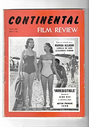 CONTINENTAL FILM REVIEW. Magazine. MAY 1959. FRONT COVER: MARISA ALLASIO IN IRRESISTIBLE