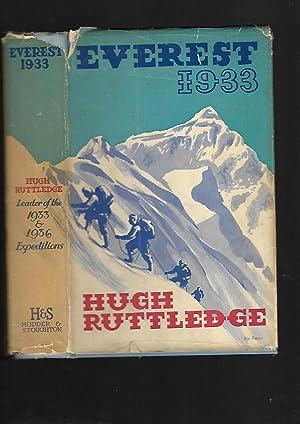 Everest 1933: Hugh Ruttledge