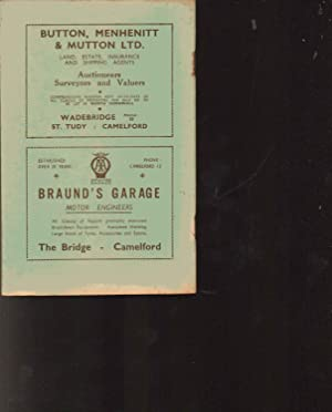 NORTH CORNWALL Embracing BOSCASTLE, TITNAGEL, CAMELFORD AND DISTRICT. The Official Guide --- SECOND...