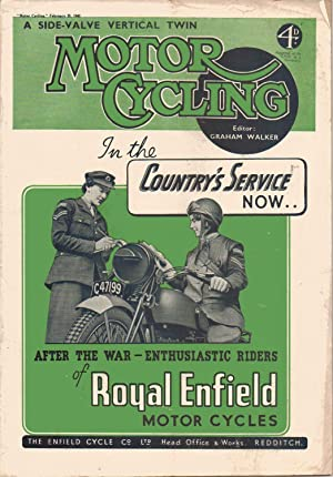 MOTOR CYCLING Magazine. February 25, 1943: Graham Walker: Editor