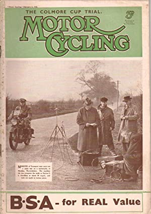 MOTOR CYCLING February 9, 1938. Magazine: T. Norman Hinton: Editor