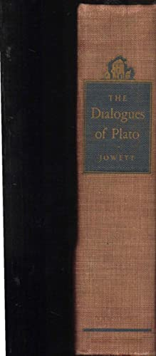 The Dialogues Of Plato. Jowett. Volume One: Plato; B. Jowett: