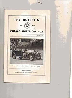 The Bulletin of the Vintage Sports-Car Club. No. 50. SPRING 1956.