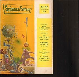 SCIENCE FANTASY magazine. VOLUME 12. NUMBER 36. 1959.