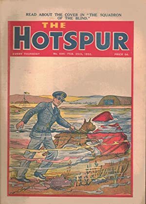 The Hotspur Comic. No. 694. February 25th 1950. Front cover: SQUADRON OF THE BLIND