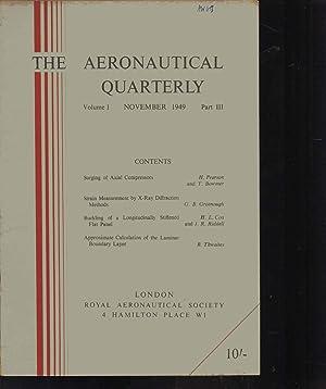 THE AERONAUTICAL QUARTERLY. VOLUME 1. PART 3. November 1949