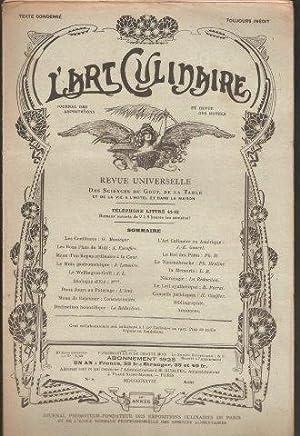 L'Art Culinaire. Revue Universelle des Science du: L'Art Culinaire. Various.