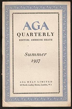 AGA Quarterly. (No.5) Summer, 1937.