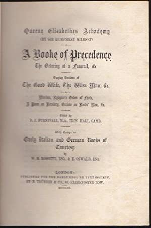 A Booke of Precedence. The Ordering of a Funerall etc. 1869.