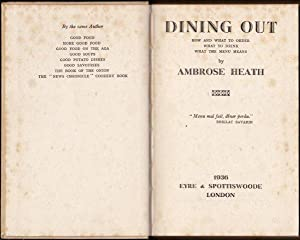 Dining Out. How and What to order. 1st. edn.