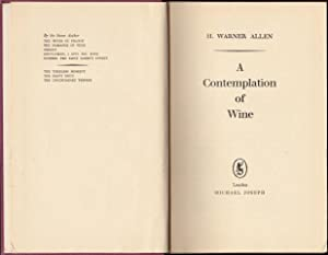 A Contemplation of Wine. 1st. edn.