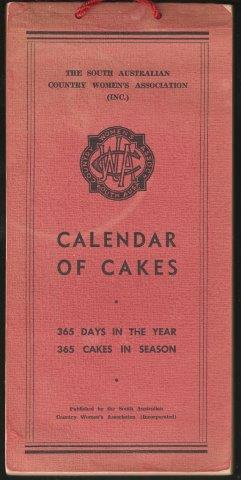 Calendar of Cakes. 1st. edn.