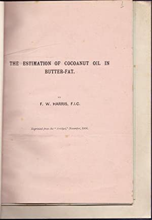 The Estimation of Cocoanut Oil in Butter-Fat. R.R.THOMPSON: On the Presence and Detection of Cyan...