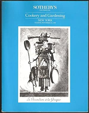 Sale catalogue of books on Cookery, Viticulture, Gardening and Related Subjects. Sotheby, New Yor...