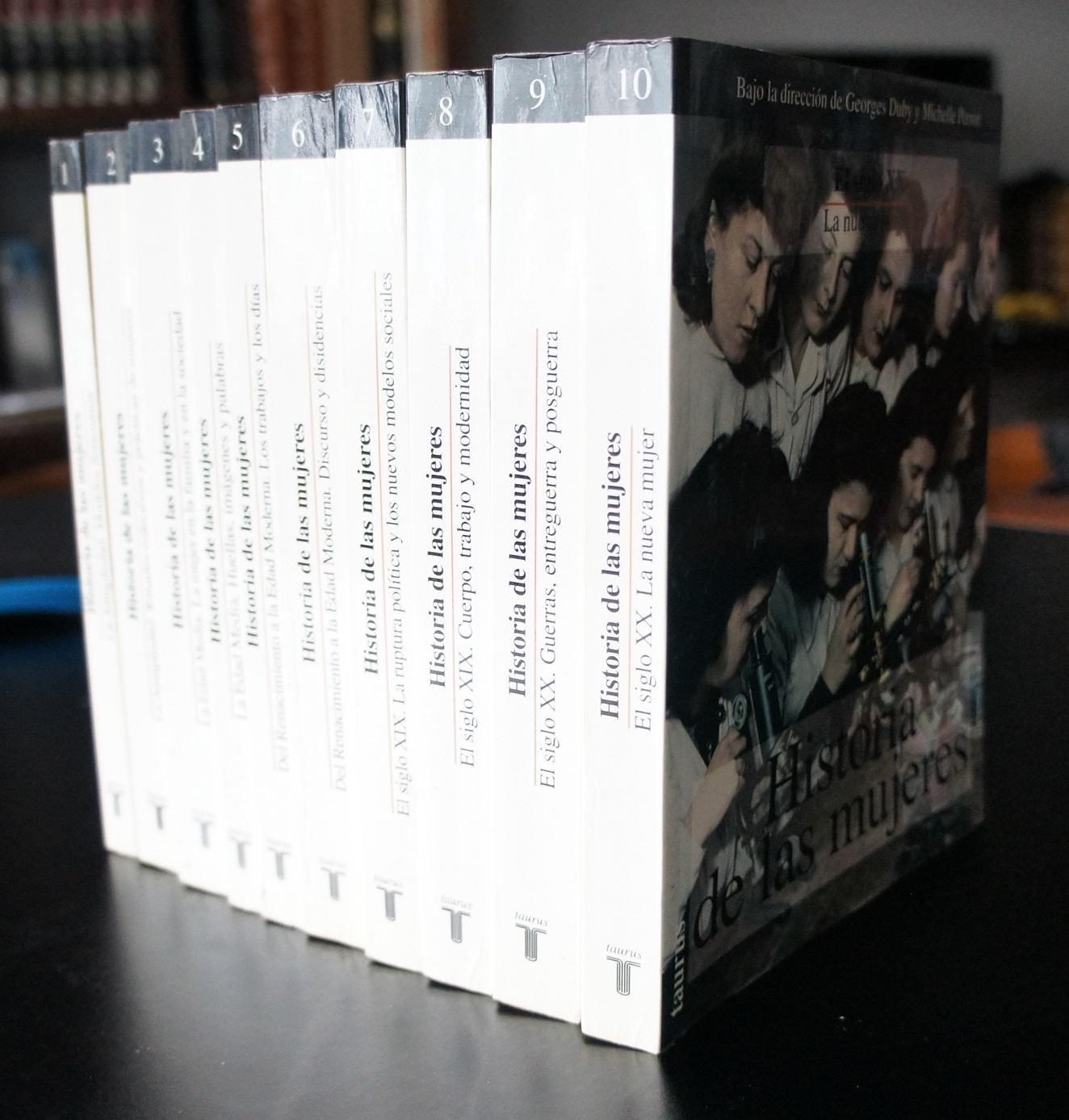 HISTORIA DE LAS MUJERES 10 tomos: Dirección Georges Duby y Michelle Perrot